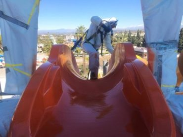 Amusement park ride painting