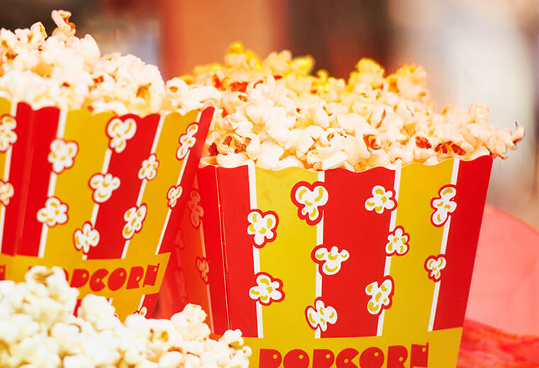 Amusement park popcorn