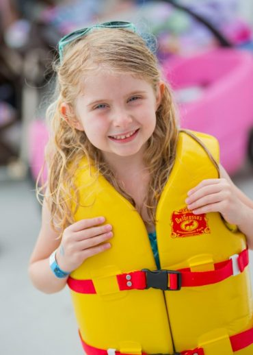 Waterpark Girl With Yellow Life Vest
