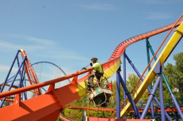 Amusement park ride Rougarou