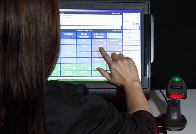 Gateway Ticketing computer screen