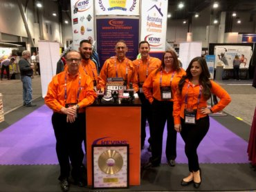 Kevins Worldwide personnel at trade show